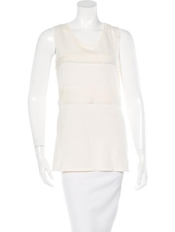 Ports 1961 Silk-Paneled Sleeveless Top w/ Tags None