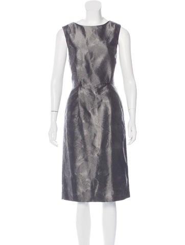 Ports 1961 Sleeveless Metallic Dress None