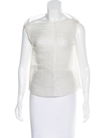 Ports 1961 Pleated Silk Top None