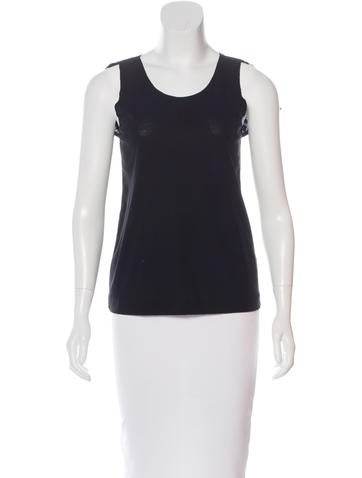 Ports 1961 Sleeveless Scoop Neck Top None