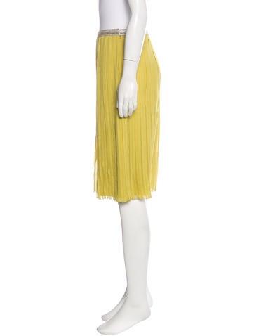 Pleated Silk Skirt