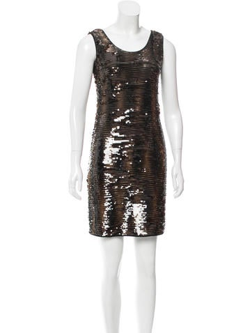 Ports 1961 Sleeveless Sequin Dress None