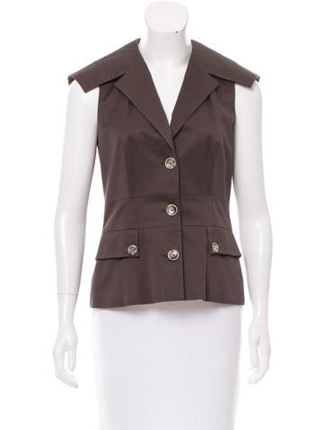 Ports 1961 Fitted Notched-Lapel Vest None