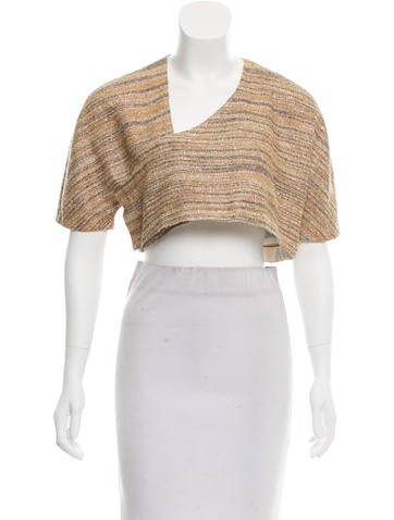 Ports 1961 Metallic-Accented Crop Top None