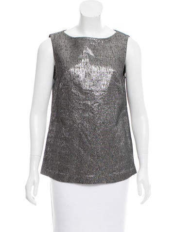 Ports 1961 Metallic Sleeveless Top None