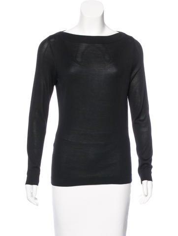 Ports 1961 Silk Long Sleeve Sweater None