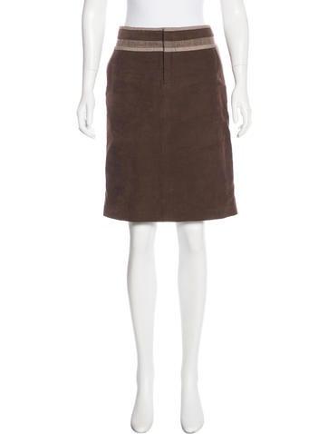Ports 1961 Corduroy Knee-Length Skirt None