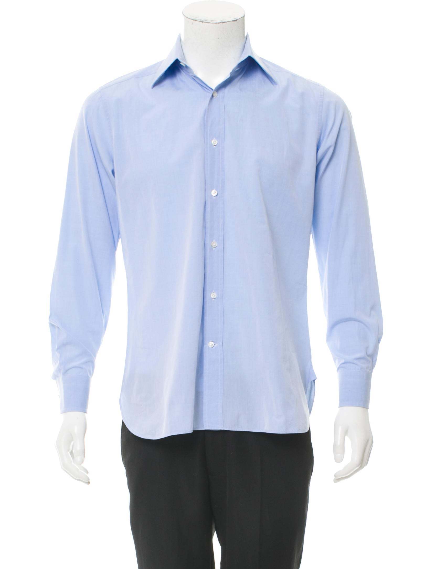 Ports 1961 spread collar button up shirt clothing for Mens wide collar dress shirts