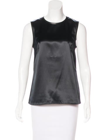 Ports 1961 Silk Leather-Trimmed Top None