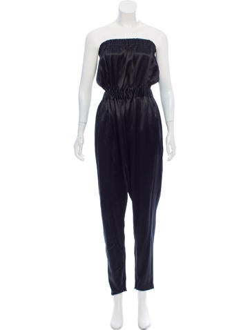 Ports 1961 Strapless Silk Jumpsuit None