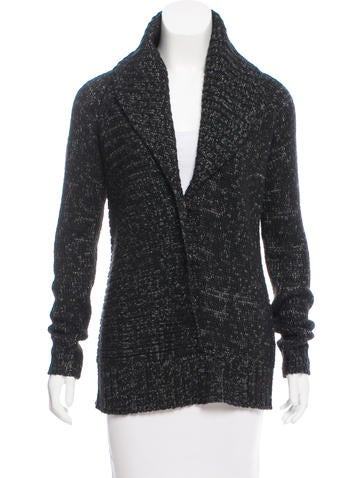 Ports 1961 Shawl-Collared Knit Cardigan None