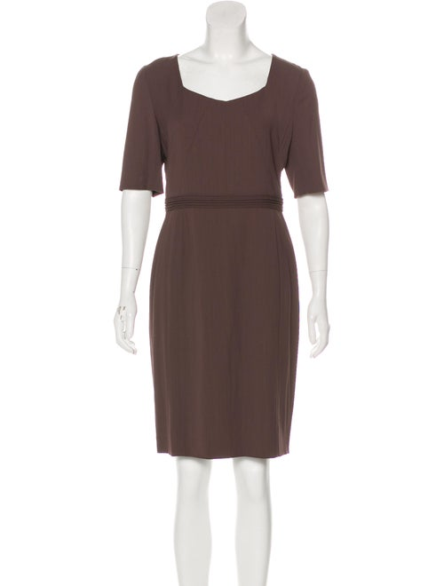 Ports 1961 Square Neck Knee-Length Dress brown