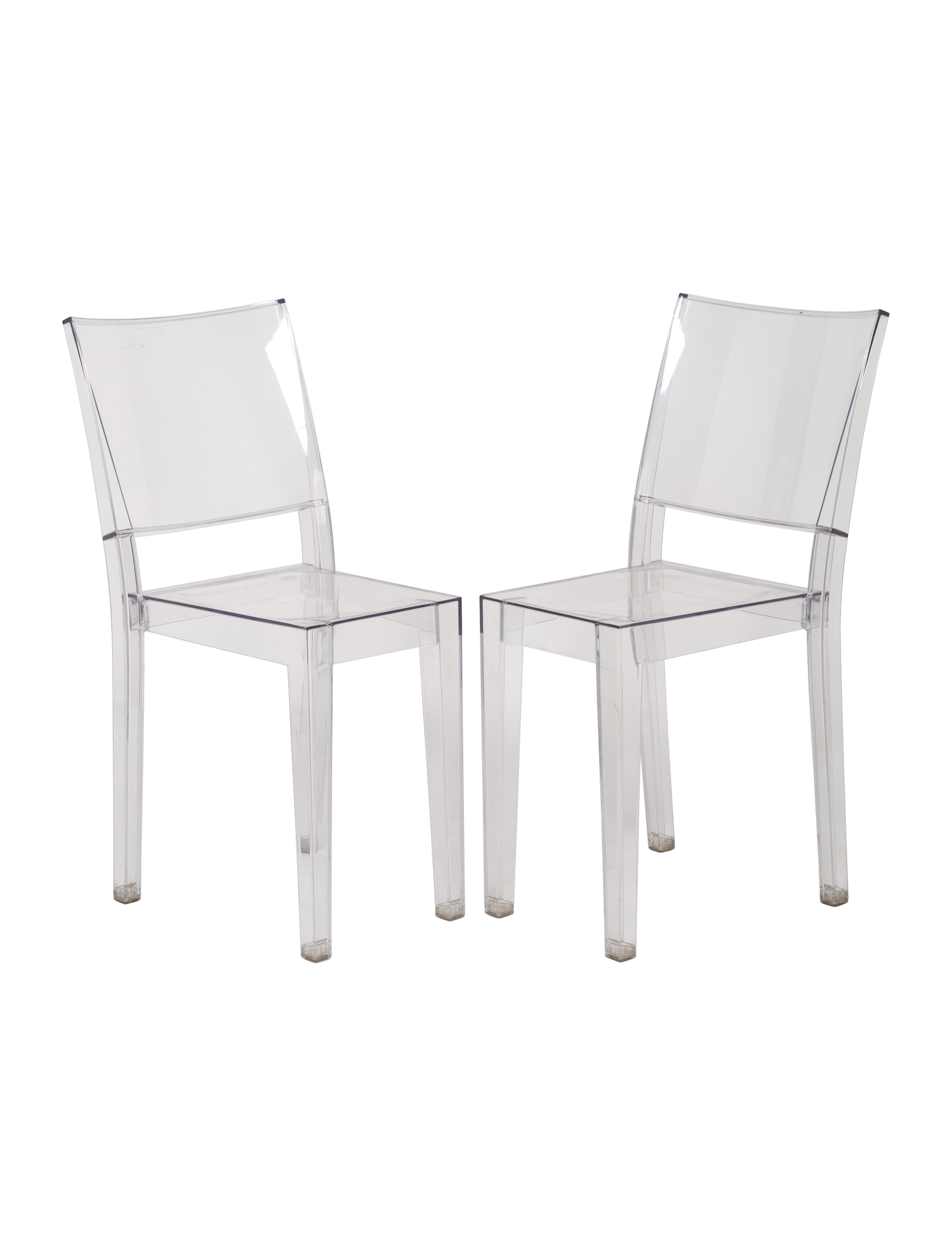 Philippe starck pair of kartell la marie chairs for Chaise la marie starck