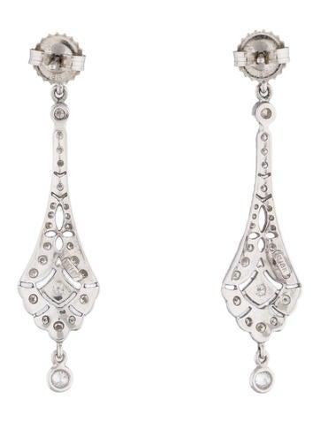 1.00ctw Art Deco-Style Diamond Earrings