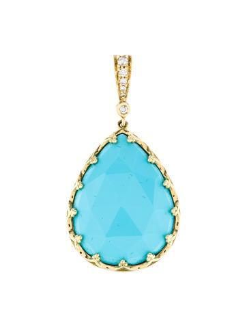 Penny Preville 18K Turquoise & Diamond Pendant