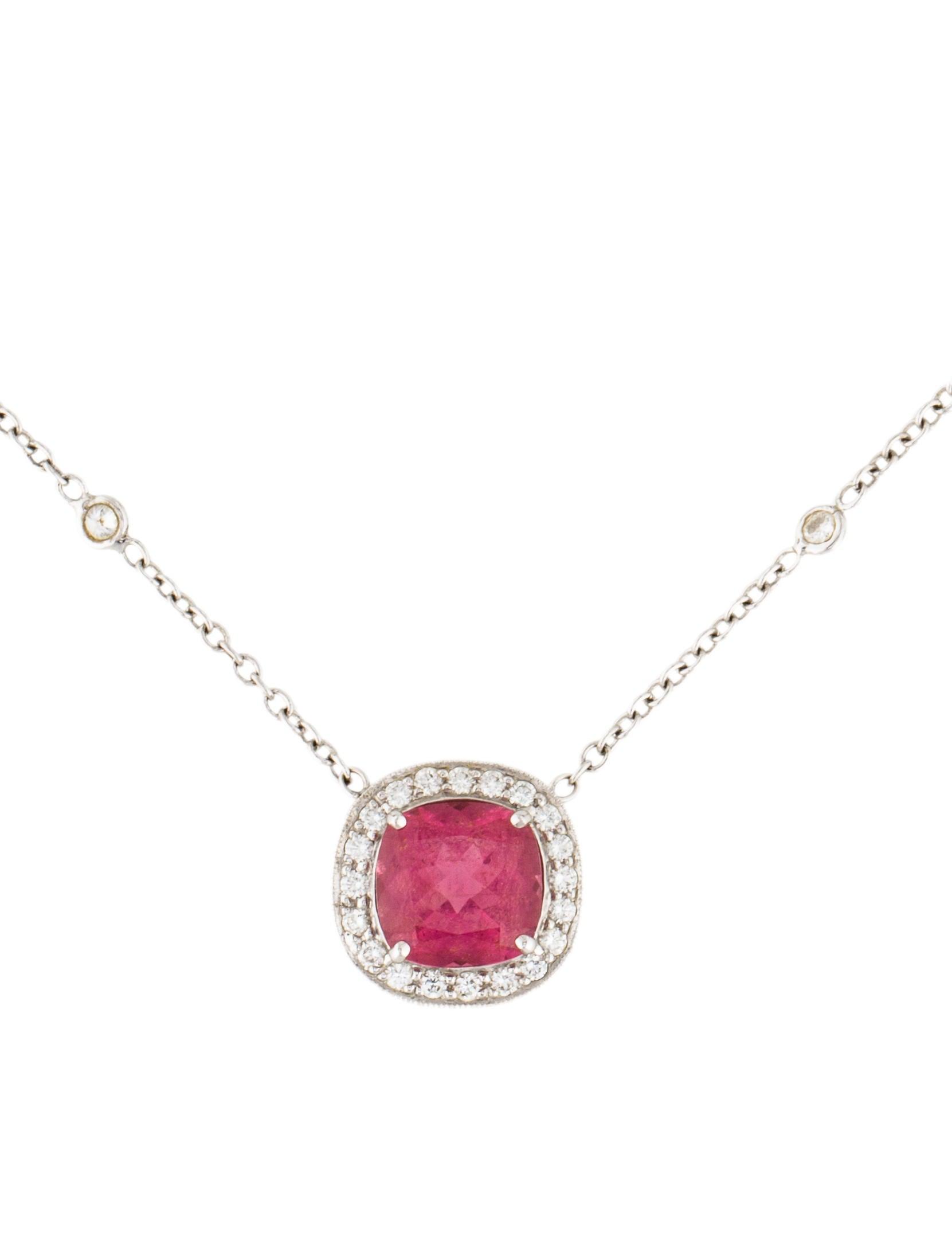 penny preville 18k pink tourmaline diamond pendant. Black Bedroom Furniture Sets. Home Design Ideas