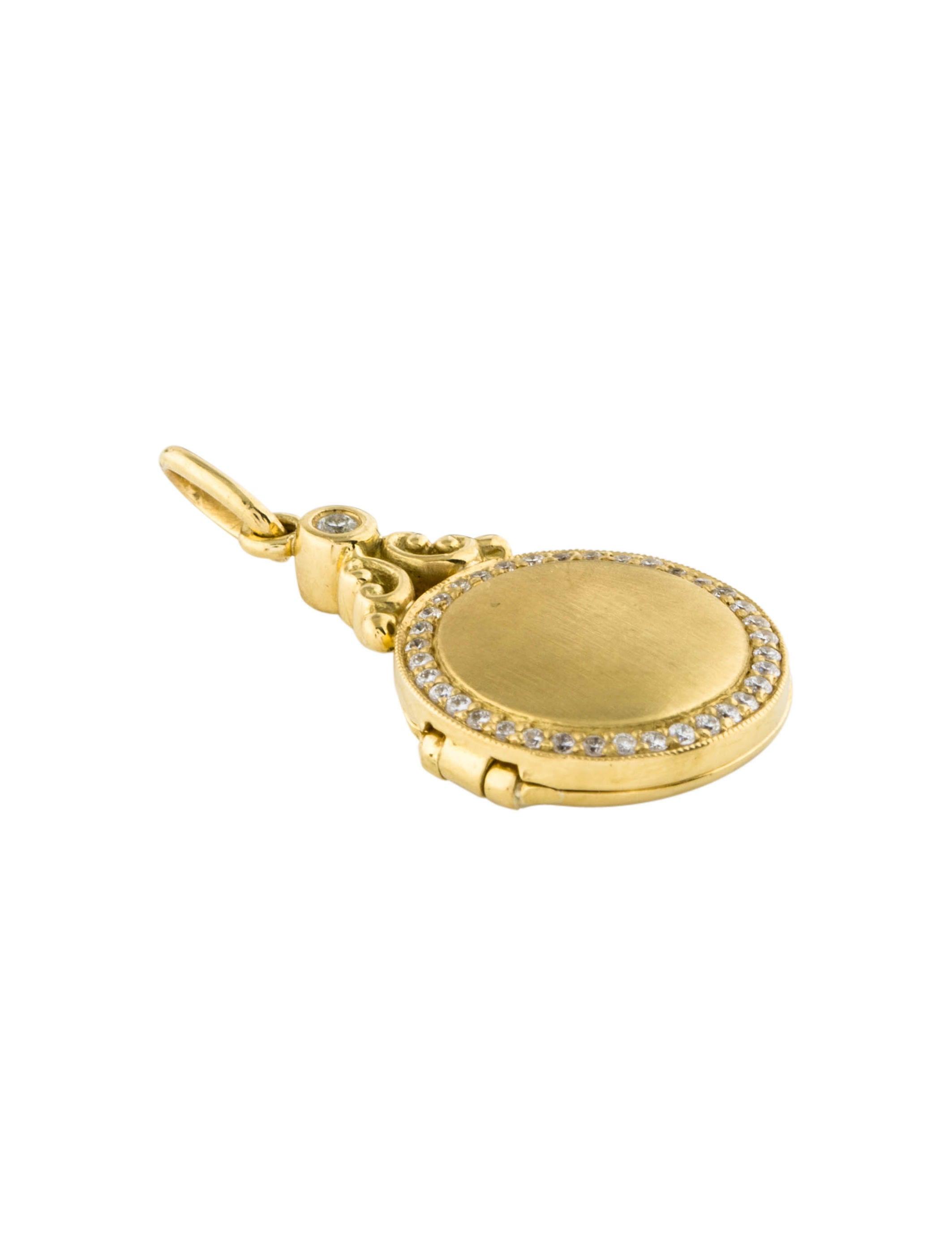 Penny preville 18k diamond locket pendant necklaces ppv20452 18k diamond locket pendant aloadofball Image collections