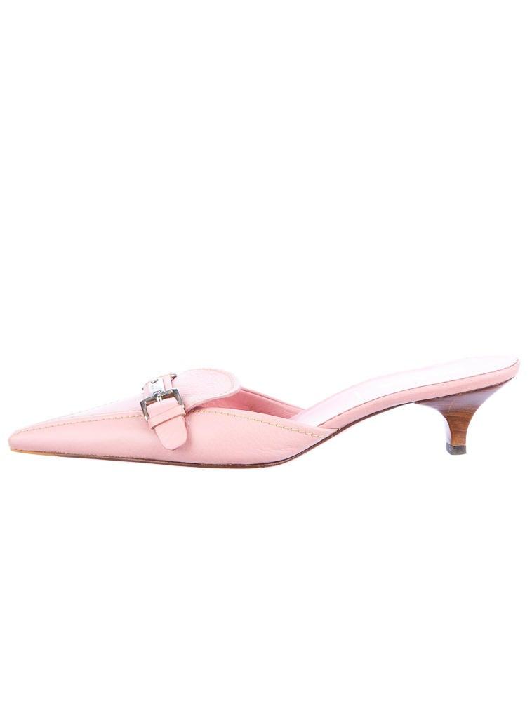Prada Kitten Heel Mules - Shoes - PRA09111 | The RealReal