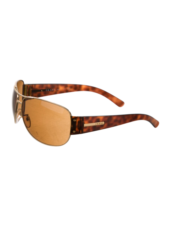 f8891ea42e495 Prada Logo Aviator Sunglasses - Accessories - PRA101870