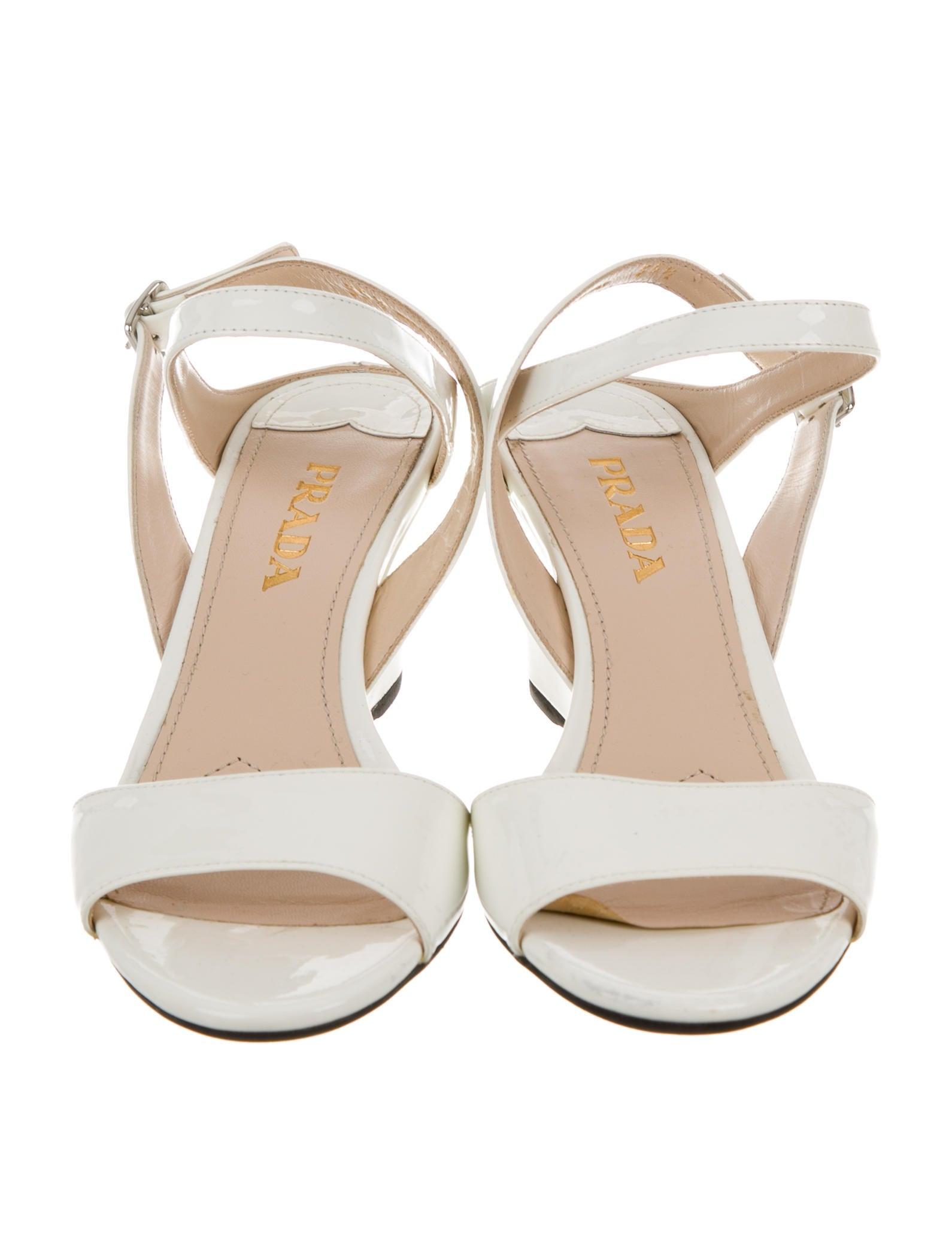 prada metallic wedge sandals shoes pra102097 the