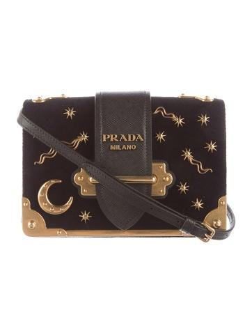 Prada Small Velvet Astrology Cahier Bag Handbags