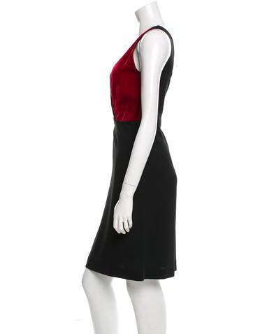Velvet- Accented Shift Dress