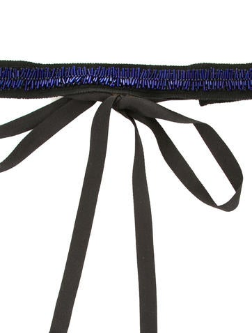 Embellished Grosgrain Belt