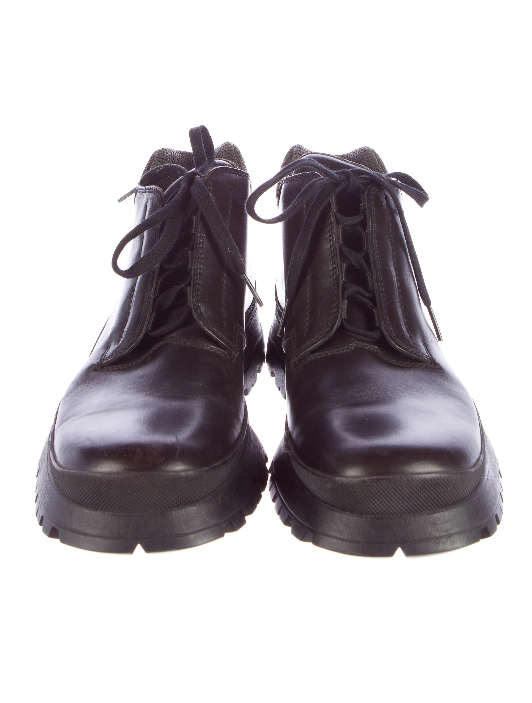 prada leather and rubber boots shoes pra102866 the