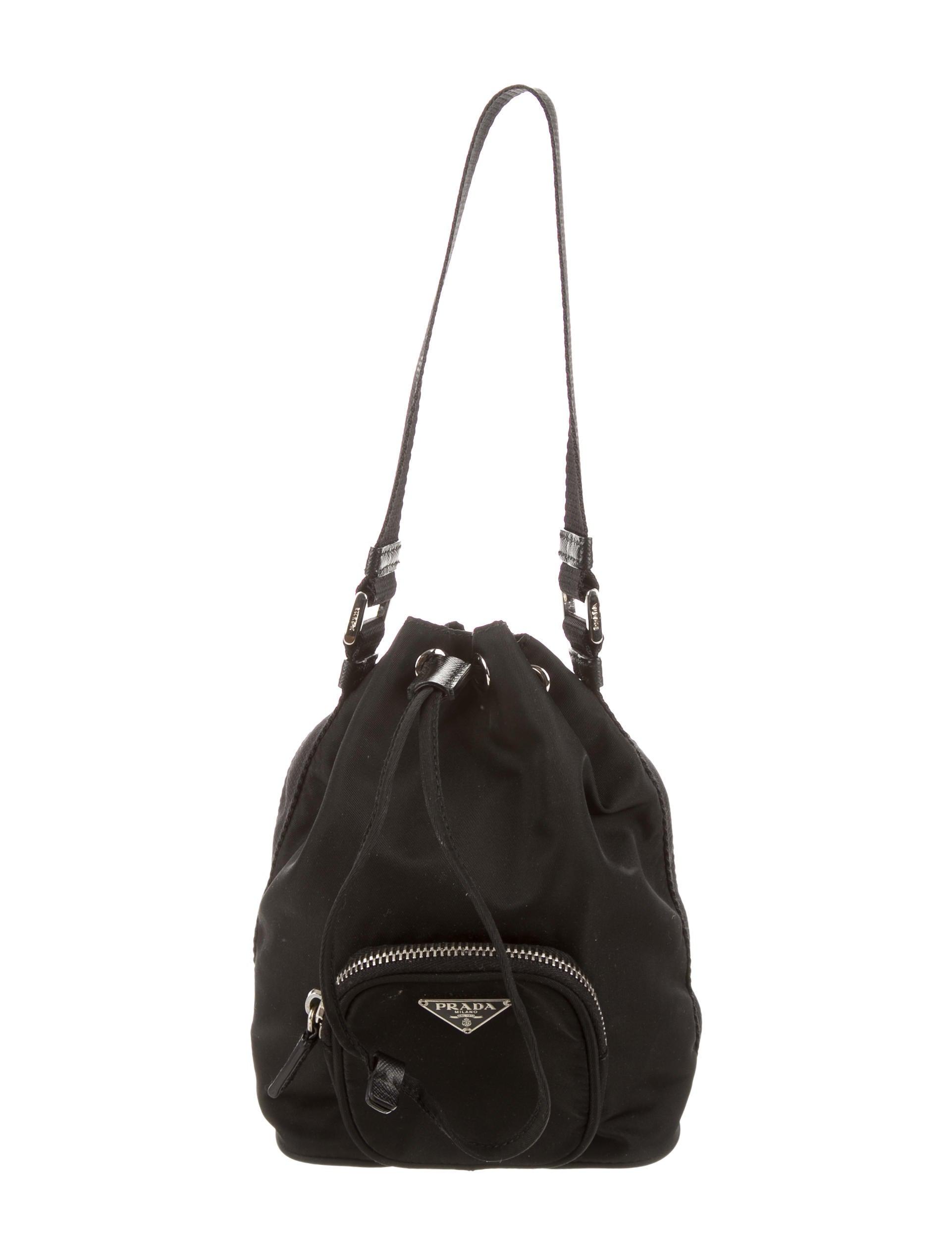 1fd5ce895ed8 Prada Tessuto Drawstring Bag - Handbags - PRA103029 | The RealReal