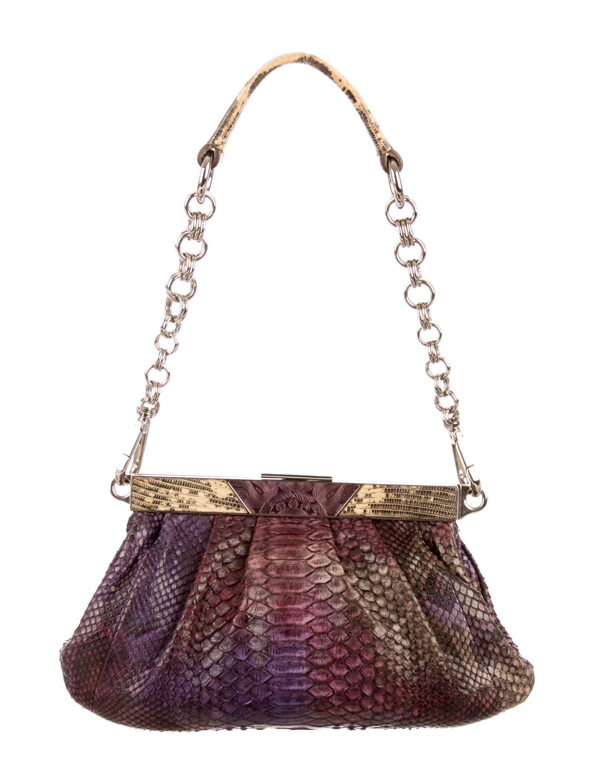 cc891cd6d02f22 Prada Python & Lizard Pochette - Handbags - PRA103053 | The RealReal