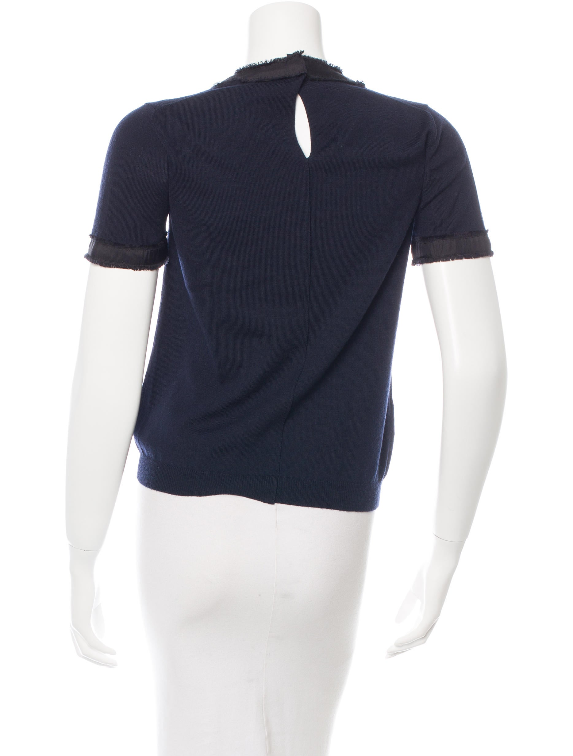 Prada wool short sleeve top clothing pra103357 the for Best wool shirt jackets