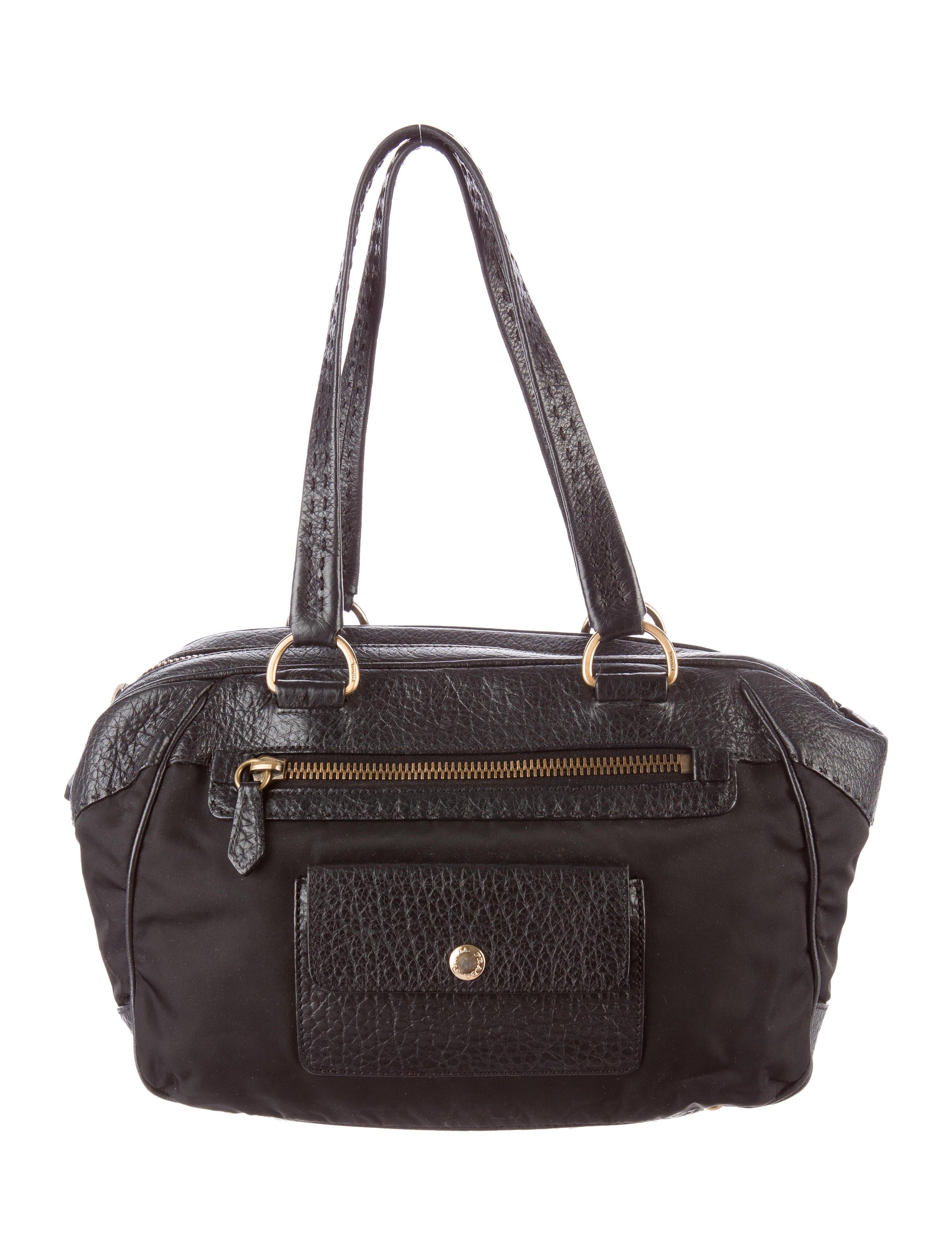 62db193a49 Prada Tessuto e Vitello Daino Shoulder Bag - Handbags - PRA103689