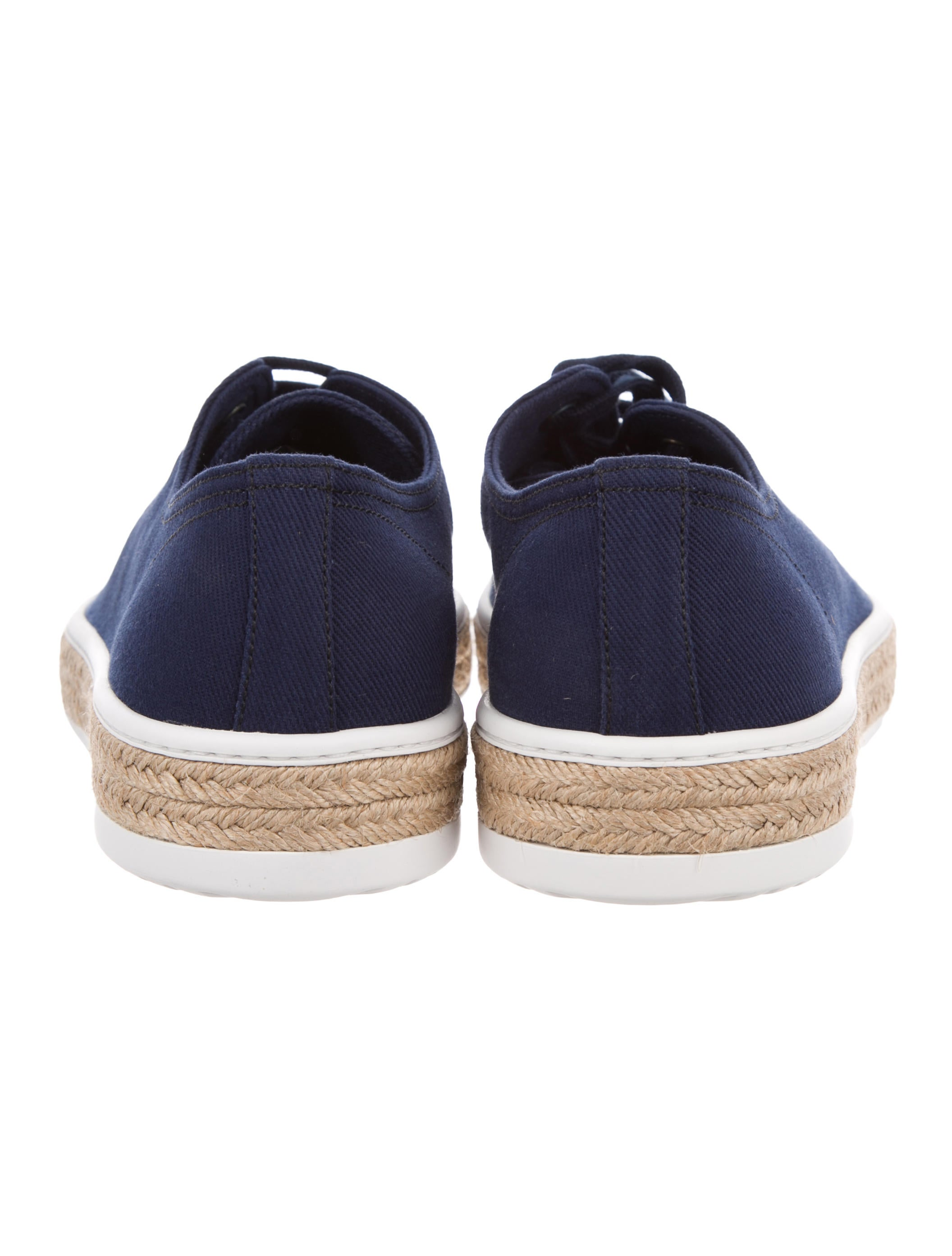 prada canvas low top sneakers w tags shoes pra103825