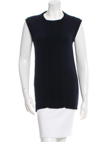 Prada Sleeveless Wool Sweater None