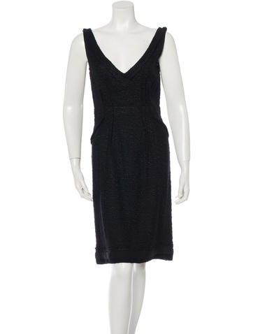 Prada Sleeveless Knit Dress None