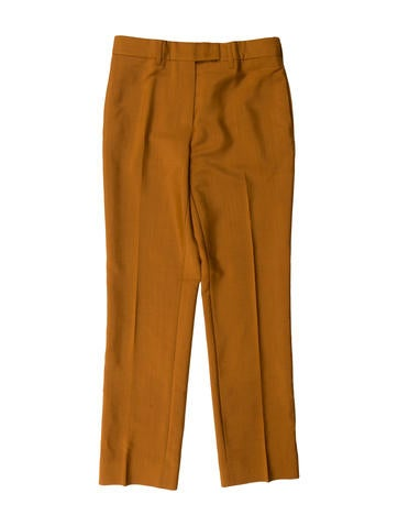 Mohair Straight-Leg Pants
