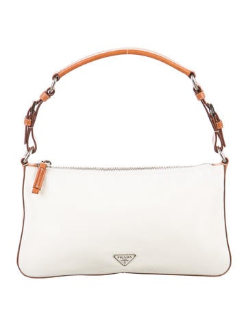 Leather-Trimmed Tessuto Bag
