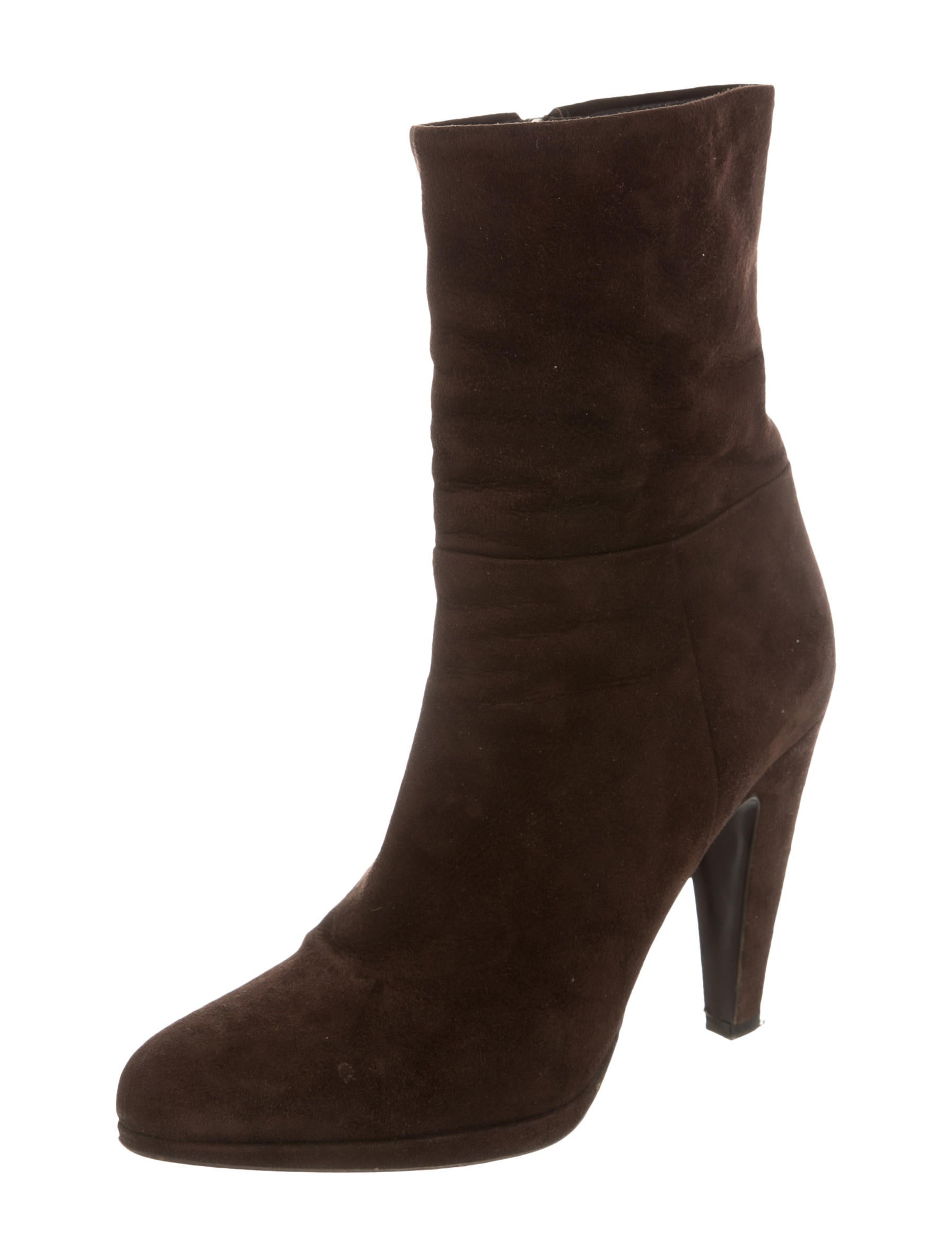 prada suede pointed toe boots shoes pra106519 the