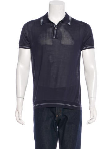 Prada Jersey Knit Polo Clothing Pra106521 The Realreal