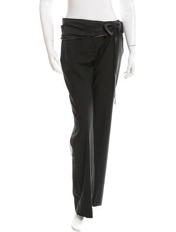 Prada Wool & Mohair-Blend Wide-Leg Pants None
