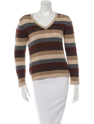 Prada Cashmere Striped Sweater None