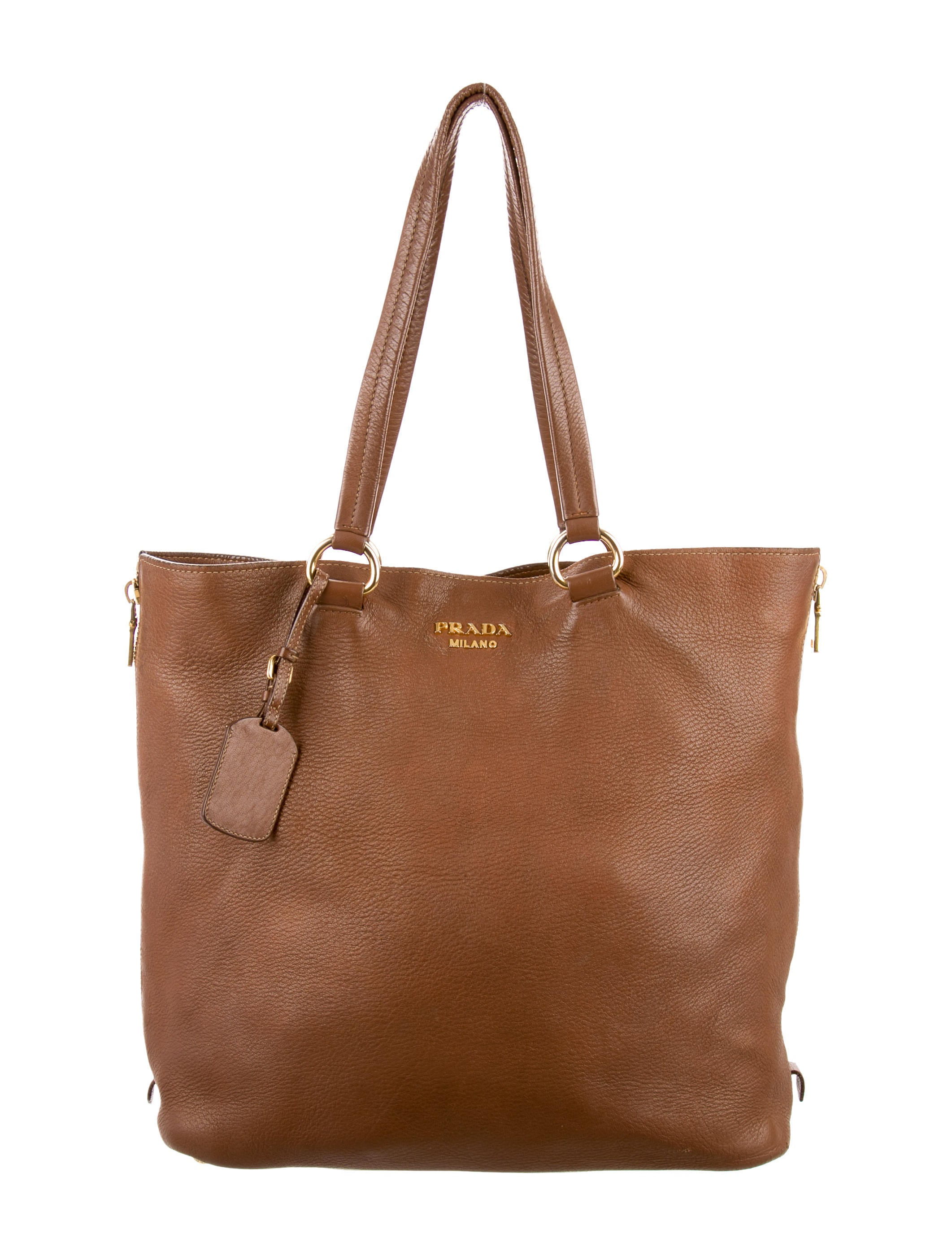1b97fcacf7bc Prada Cervo Zip Shopper Tote - Handbags - PRA108564 | The RealReal. Prada  Black Vitello Daino ...