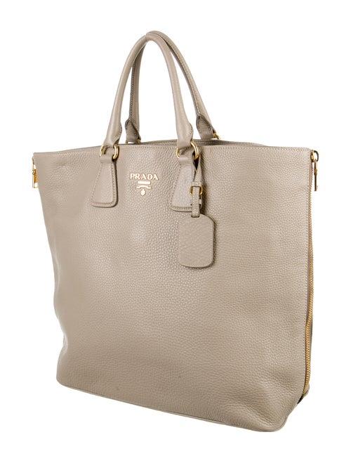 5afdfd973c72 Prada Vitello Daino Side-Zip Tote - Handbags - PRA108662