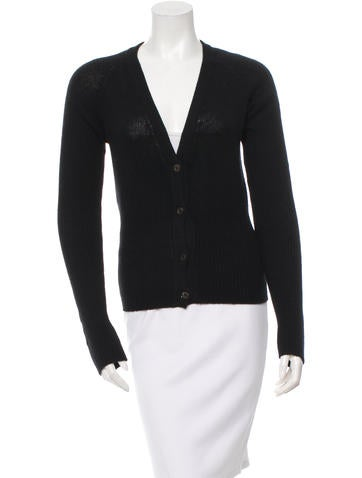 Prada Knit V-Neck Cardigan None