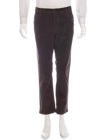 Prada Straight-Leg Corduroy Pants None
