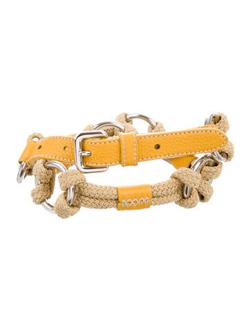 Leather-Trimmed Knotted Belt
