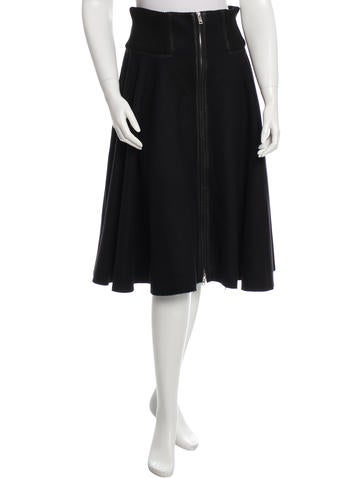 Prada Wool Midi Skirt None