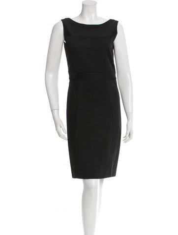 Prada Ribbed Satin Dress None