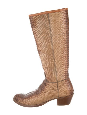 prada snakeskin knee high boots shoes pra110103 the