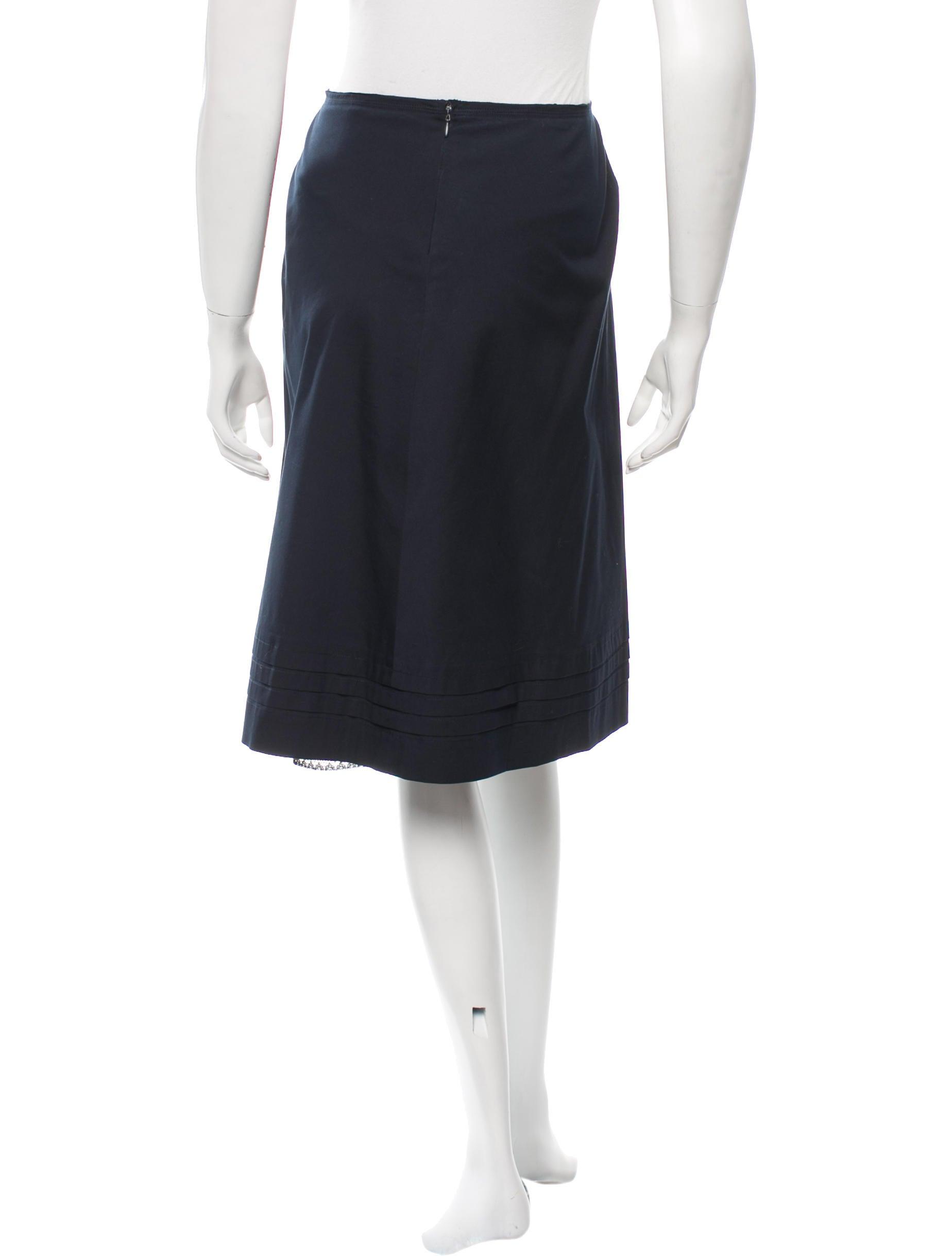 prada knee length a line skirt clothing pra110168